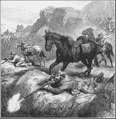 Boer Warriors target British colonial troops in an anbush