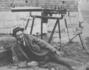 Homemade Boer machine gun