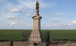 The Millie Monument is dedicated to James Daniel Duff who was killed in the Boer War on August 4, 1900